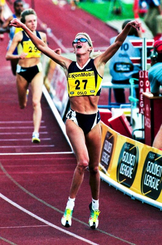 Suzy Favor-Hamilton vann 1500 meter på 3:57,40